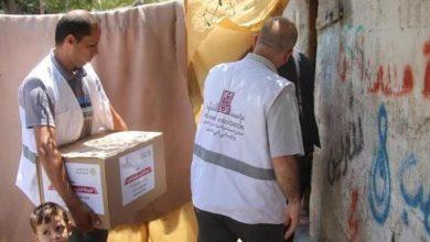 Photo of توزيع طرود غذائية على ذوي الاحتياجات الخاصة شمال القطاع
