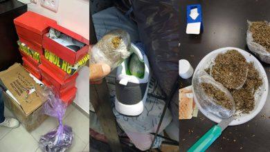Photo of احباط كمية كبيرة من المواد المخدرة داخل احذية في معبر كرم ابو سالم