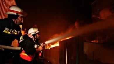 Photo of الدفاع المدني يخمد حريقاً بأحد المصانع شمال قطاع غزة