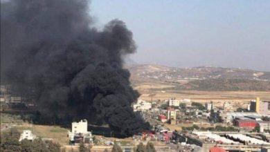 Photo of حريق كبير في سوق الخضار المركزي بنابلس