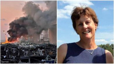 Photo of فيديو مرعب للحظة وفاة زوجة سفير هولندا في انفجار بيروت