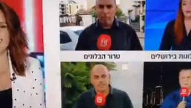 Photo of شاهد مراسل القناة العبرية يتعرض للإغماء أثناء البث المباشر