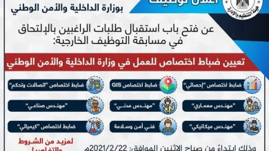 Photo of إعلان وظائف ضباط اختصاص للعمل فى الأجهزة الأمنية الفلسطينية غزة