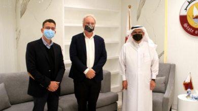 """Photo of العمادي يستقبل مديريّ عمليات """"أونروا"""" و""""أوتشا"""" في مكتبه بغزة"""