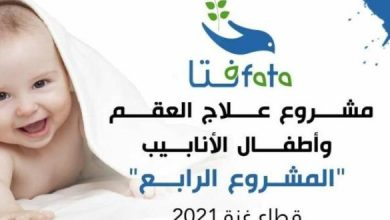 Photo of بيان هام من د.جليلة دحلان بخصوص مشروع علاج العقم وأطفال الأنابيب فى قطاع غزة لعام 2021م